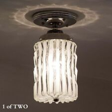 249b Vintage Ceiling Light Lamp Fixture Glass shade bath hall porch midcentury