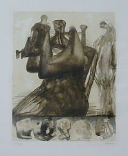"""Henry Moore """"Mother and Child with Border Design"""" Original Lithograph S/N"""