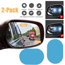 2PCS Rainproof Car Rearview Mirror Sticker Anti-fog Protective Film Rain Shield