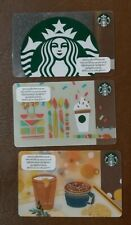 2019 STARBUCKS Coffee card Cambodia 3 used cards first issue