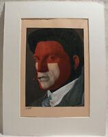 Norbert Fleischer Maler Original Zeichnung Kunstwerk Unikat Einzelstück signiert