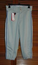 New Balance Men's 2000 Baseball Pant Gray with Blue Piping Size Small Team Issue