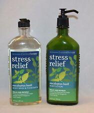 Bath & Body Works Aromatherapy Eucalyptus Basil Body Lotion and Wash Foam Bath