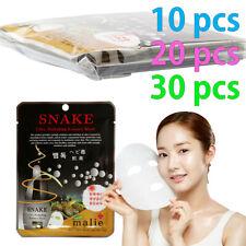 [Malie] SNAKE Facial Mask Sheet Essence 10-30pcs Korean Beauty Cosmetics