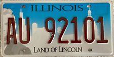 GENUINE Illinois Chicago Skyline USA License Licence Number Plate Tag AU 92101