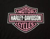 Harley Davidson Pink Bar And Shield Breast Cancer Black Shirt NWT Men's XXL
