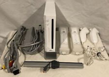 Nintendo Wii Console Bundle 2 Motion Plus Controllers Works Tested