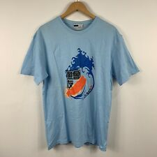 Fila Mens T Shirt Size Large Blue Short Sleeve Aguaria Limited Edition