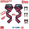AM GYM STRAPS -WEIGHT LIFTING BODYBUILDING WRIST WRAPS BAR SUPPORT
