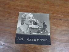 Brochure Publicitaire ABONNEMENT TELEPHONIQUE vers 1935 PTT Poste et téléphone