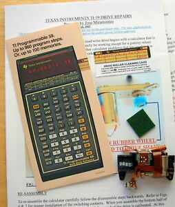 TEXAS INSTRUMENTS TI-59 CALCULATOR CARD READER GUMMY WHEEL REPAIR KIT