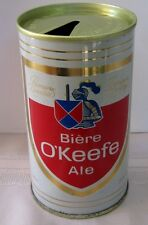 Biere O'Keefe 341 ml Steel Ale Pull Tab, Top Opened Okeefe Quebec Canada