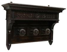 DIMINUTIVE ITALIAN FLORAL CARVED HANGING COAT RACK, 19th Century ( 1800s )