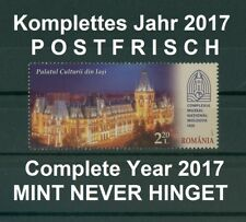 Rumänien 2017 komplettes ** Jahr ohne Blocks aus den Verkaufspackungen,Year 2017