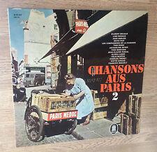33 tours Allemagne compilation Chansons Aus Paris 2 Deguelt Montand Bécaud 1961