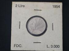 REPUBBLICA MONETE 2 LIRE 1954 FDC