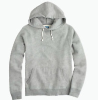 New J.Crew Mens Heather Graphite Gray French Terry Pullover Hoodie Size Small