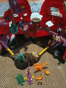 Vintage Mighty Max Toy Skull Mountain Volcano With Monsters