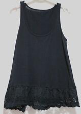 Metalicus Black Cotton Frill Sleeveless Tank Top As New #Sunday Market