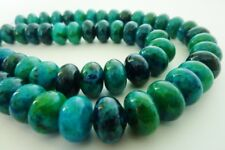 40 pce Abacus Chrysocolla Gemstone Beads Dyed 12mm x 8mm Jewellery Making