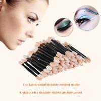 100pcs Eye Shadow Sponge Brushes Cosmetic Tool Double-Eyeshadow Applicators US