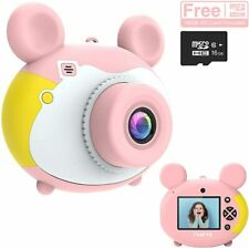 Kids Digital Camera for Girls Boys Rechargeable HD Video Photo Camera + SD card