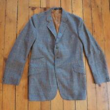 Vintage Moss Bros. Covent Garden Tweed Handwoven 100% New Wool Blazer Mens