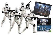 Star Wars Clone Trooper 4-pack White EE 2005 Hasbro - AFA 90 NM /mt