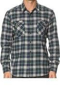 QUIKSILVER Men's TURNER ISLAND L/S Flannel Shirt - BSL0 - M - NWT