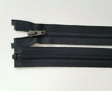 """BROWN CHUNKY PLASTIC OPEN END ZIP No 5 weight 28/""""// 71 CM BEST QUALITY"""