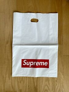 Supreme New York Plastic Large Size x8 Tote Shopping Bag 16x23 Red Box Logo