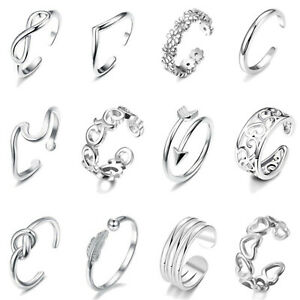 12Pcs/Set Jewelry Silver/Gold/Rose Gold Toe Rings Women Rings Gifts S07
