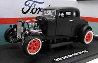 Greenlight 1/18 Scale Diecast - 12975 1932 Custom Ford Hot Rod Matt Black