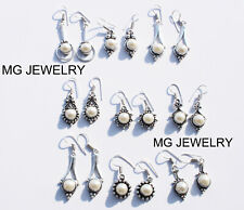 Sale !! 25 Pcs Lot Natural Mother Of Pearl Gemstone 925 Silver Plated Earrings