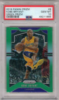 2019-20 Panini Prizm Kobe Bryant Green Prizm PSA 10 Los Angeles Lakers