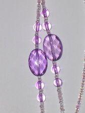 "Light Purple Oval Round Fancy Beads Eyeglass Sunglass Cord Chain Holder 26"" NEW"