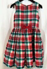 Girls Gymboree Taffeta Tartan Plaid Holiday Sleeveless Dress Lined Size 10
