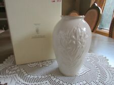 "Lenox China Masterpiece Medium Floral Vase 8"" New In Box"