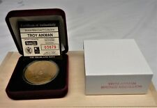 TROY AIKMAN Highland Mint Collectors Bronze Coin / Medallion Mint in Box w/ COA