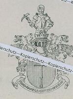 Wilhelm Ritter von Schrenk aus Nördlingen - Adelswappen - um 1915       Z 2-26