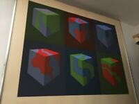 Marco Spalatin Signed and small limited Edition Abstract lithograph