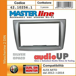 MASCHERINA AUTORADIO 2 DIN SOLO CORNICE PER ALFA ROMEO MITO DAL 2012 AL 2014.