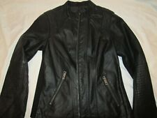 Maurices Vegan Leather Black Motorcycle Jacket Women's size XS New with Tags
