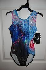 GK Elite Gymnastics Leotard - Simone Biles - Adult X-Small - Starry Explosion