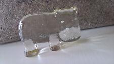 Glas Figur Nilpferd Kosta Boda Zoo-Serie Erik Höglund Design Sweden Figurine