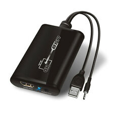 D04 USB 2.0 + 3.5mm Display Adapter Konverter HDMI Grafikkarte Monitor TV 1080p