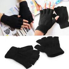 Thermal Men Ladies Boys Women Black Half Finger Magic Gripper Fingerles Gloves
