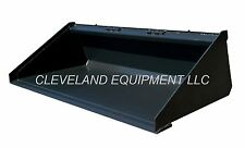 "NEW 84"" LONG BOTTOM BUCKET Skid Steer Track Loader Kubota Bobcat Case Holland 7'"