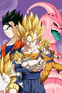 Dragon Ball Z Poster Gogeta Buu Gohan Gotenks Goku Vegeta 12inx18in