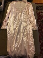 Vintage IsaBella blush pink satin Look nightgown dress gown lingerie Small (SC)